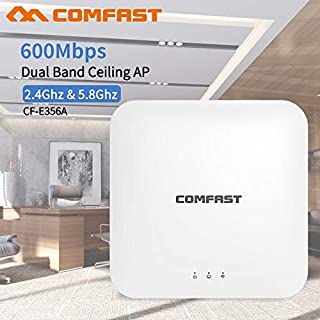 COMFAST Wireless AP CF-E356AC 600Mbps Ceiling AP 802.11AC 5.8G+2.4G Indoor AP 48V POE Power 16 Flash WiFi Access Point Amp...