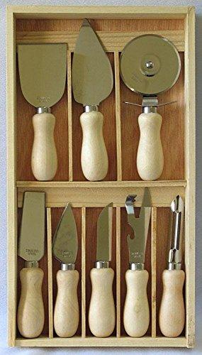 SET DI COLTELLI DA FORMAGGIO 8 pezzi con scatola cucina
