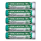 OLLOIS Arnica Montana 30c Organic & Lactose-Free Homeopathic Pellets for Pain, Trauma, Bruising, 5-Pack, 400 Count