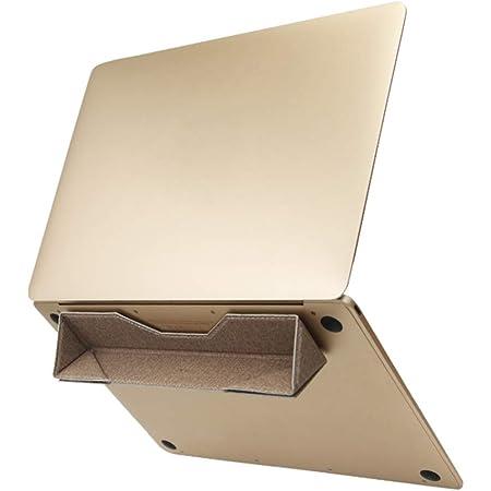 ノートパソコン スタンド 折りたたみ インビジブル 軽量 携帯型 放熱対策 滑り止め付き (改良型金)