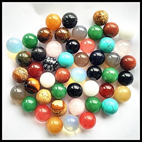 JIANGLAI 50 piezas de moda surtidos de piedra natural redonda forma de bola sin agujero perlas para hacer joyas de 8 mm 10 mm 12 mm
