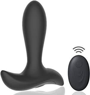 Vibrating Butt Plug with 10 Pleasure Modes, Wireless...