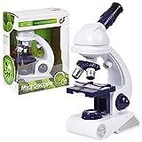 INEP Niños Microscopio Set, niños Principiante microscopio Stem interés Kit de 80X-200X-450X microscopio claras de los niños en Juguetes de la Ciencia de formación y educación