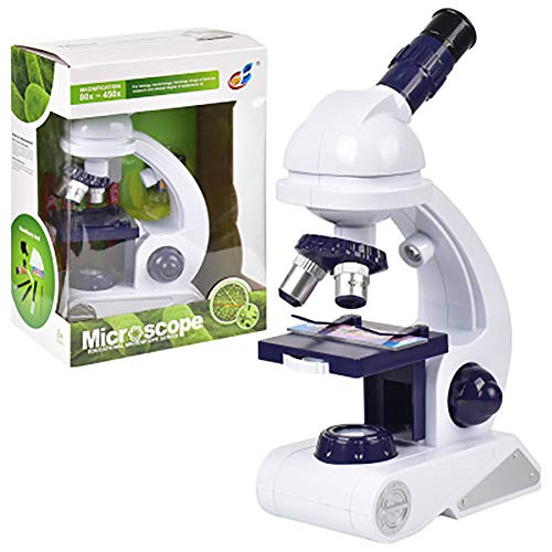 INEP Kinder-Mikroskop Satz, Kinder Anfänger Mikroskop STEM Kit 80X-200X-450X Klar Interesse Mikroskop Kinder in Ausbildung Wissenschaft und Bildung Spielzeug