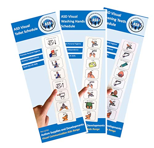 Personal Hygiene Bundle (Plastic, Washable, Visual schedules for Autism/Learning Disabilities/ADHD)