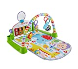 Fisher-Price Kick and Play Piano Gym, New-Born Baby Play Mat with Activity Centre