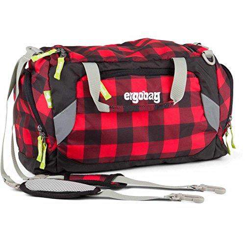 ERGOBAG LumBearjack Sporttasche, 40 cm, 20 L, Black Red Checks