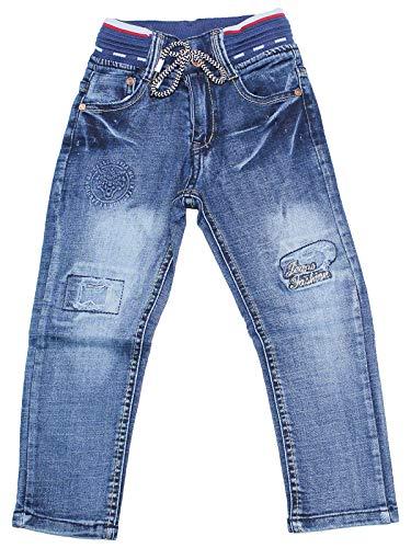 Sotala Boys Jungen Kinderhose Kinderjeans Jeans Hose mit Gummizug Gummibund elastischer Bund gerader Schnitt cool stylisch Stickerei