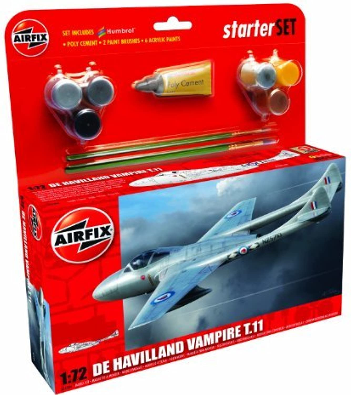solo cómpralo Airfix 1 72 De Havilland Havilland Havilland Vampire T11 Estrellater Aircraft Model Set (Medium) by Airfix  venta directa de fábrica