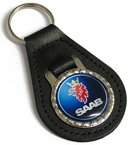 Saab Kunstleder Schlüsselanhänger//Schlüssel Fob Saab Classic Schwedisch Auto