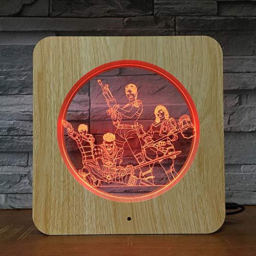 Equipo predeterminado lámpara de Mesa de plástico luz Nocturna lámpara Personalizada niños Color Regalo decoración del hogar