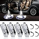 LED Car Door Performance Logo Light Projector Courtesy Laser Welcome Lights Ghost Shadow Light Compatible with Accessories X1 X3 X4 X6 1 3 4 5 6 7 Z GT Series - 4 Pack