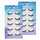Stephany 10 Pairs Demi Wispies False Eyelashes Multipack Natural Fake Eyelashes Wispy Eye lashes (10 Pair)