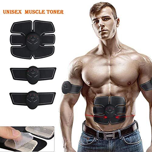 DAMIGRAM Elettrostimolatore Muscolare, EMS Stimolatore Muscolare con Cinghie di Supporto(Type 1)
