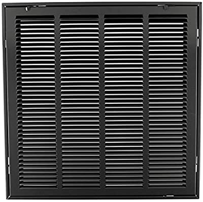 """20"""" X 20"""" Steel Return Air Filter Grille for 1"""" Filter - Removable Face/Door - HVAC Duct Cover - Flat Stamped Face - [Outer Dimensions: 22.5 X 21.75]"""