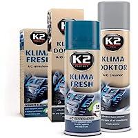 Juego de limpieza Fresh para eliminar malos olores que incluye una bomba en aerosol para aire acondicionado, de 150ml, y un limpiador de aire acondicionado con espuma, de 500ml