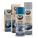 K2 Air Con Bomb FRESH 150 ml & Air Conditioning Cleaner Foam 500 ml A/C Remove Odor Set