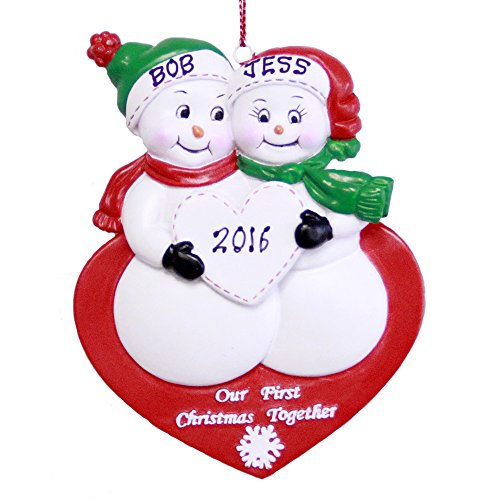 Personalized Our 1st Christmas Together Snowman Couple Ornament 2020