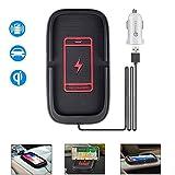 JE Wireless Car Charger,Handyhalter Für Auto Wireless Charger Mit Auto LadegeräT Qi Fast Charging...