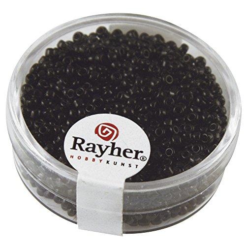 Rayher 1406301 Rocailles, 2 mm ø, schwarz