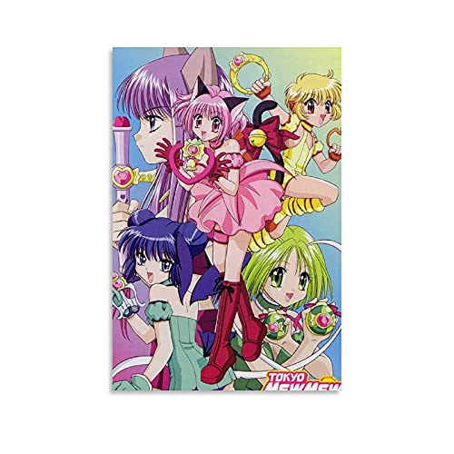kawaiiStore Tokyo Mew Mew Anime Art Poster Poster Decorative Painting Canvas Wall Art Living Room Posters Bedroom Painting 12×18inch(30×45cm)