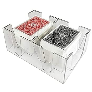 Yuanhe 6 Deck Clear Canasta Playing Card Tray