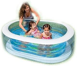 SAIDISH Transparent Oval Pool Baby Swimming Pool