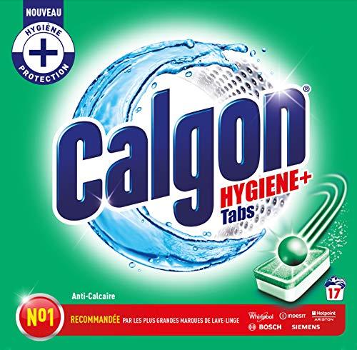 Calgon Pastilles Anticalcaire Nettoyant Lave-Linge Hygiène Plus - 17 Tablettes