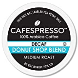 CAFESPRESSO Decaf Donut Shop Blend for K Cup Keurig 2.0 Brewers, 80Count, Medium Roast Single Serve Coffee Pods, 80Count (Packaging May Vary)