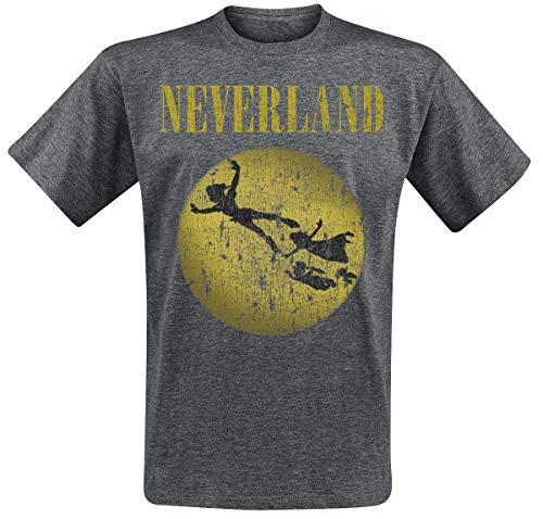 Peter PAN Neverland Männer T-Shirt grau meliert S 97% Baumwolle, 3% Polyester Disney, Fan-Merch, Film