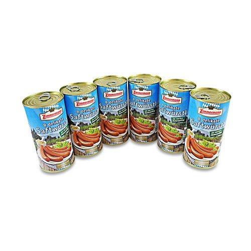 Delikate Saftwürstl 6er Pack (6 Dosen à 8 Stück / 250 g)