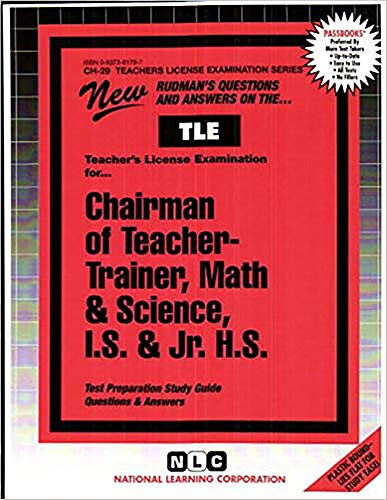 Teacher-Trainer, Math & Science, I.S. & Jr. H.S.: Passbooks Study Guide (Teachers License Examination Series)