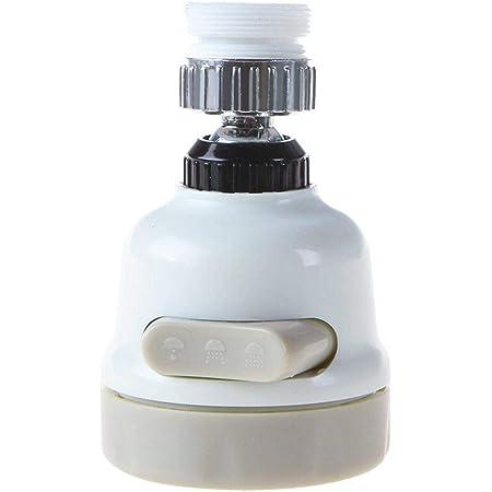 Nsiwem T/ête de Robinet de Cuisine 360 Pivotant Embout de robinet Robinet Buse Filtre de Buse T/ête Mousseur Filtre /à Eau Adaptateur 3 Modes R/églable pour cuisine et salle de bain