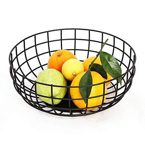MotBach Placa de Fruta Europea, Acero Inoxidable Copa de Almacenamiento de Vegetales Cesta de café Cesta de Frutas