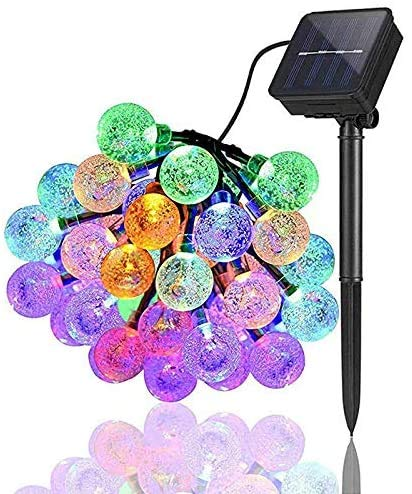 Solar String Lights Garden,15ft 40 Crystal Balls Waterproof LED Fairy Lights,Decorative Lights with 8 Modes for Garden, Patio, Yard, Home, Christmas Tree, Parties (Multi-Color)