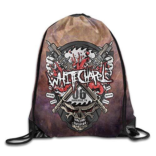 CHSUNHEY Turnbeutel,Sporttaschen,Rock Band Whitechapel Mark of The Blade Port Bag Eco-Friendly Luggage Drawstring Backpack