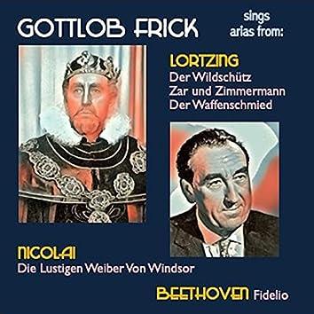 Gottlob Frick sings arias from: Der Wildschütz · Zar und Zimmermann · Der Waffenschmied · Die Lustigen Weiber Von Windsor · Fidelio