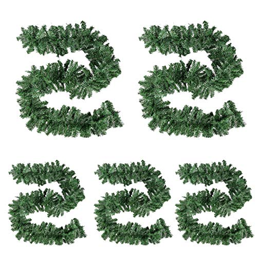 GOOGIC Christmas Garland Festive Holiday Xmas Garlands Perfect for DIY Wreath, Mantle Decoration, 8.86 FT (Decoration Not Include) -5 Pack