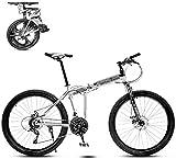 Bicicleta de montaña plegable de 8 segundos de bicicleta MTB de 26 pulgadas de 21 velocidades marco de acero de doble