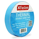 XFasten Thermal Double-Sided Adhesive Tape, 1 Inch x 90 Feet, High Thermal Conductivity and Electrical Insulating Thermal Tape for LED Strips, 3D Printing Beds, Computer CPU, Heat Sinks