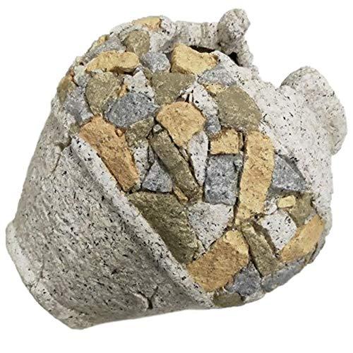 Macetero de jardín imitación piedra con forma de Pileta, Figuras Resina I...