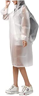 WUFAN Raincoats for Adults Backpack Breathable Lightweight Rain Poncho