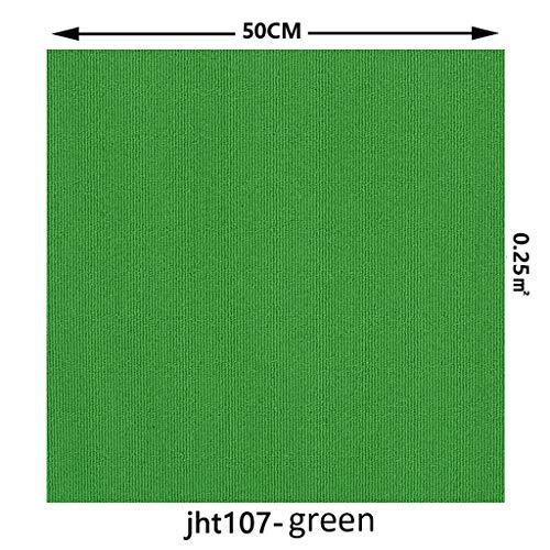 Kommerzielle Teppichbodenfliesen,Premium Selbstklebend Shag Teppichfliesen Quadrate Nicht-Slip Peel Stick Bodenmatte Für Zu Hause 12 Fliesen Grün 50x50cm(20x20inch)