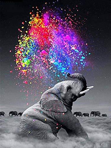 N/R 1000 Piezas Puzzle-Animal Puzzle-Baby Elephant-Colorful