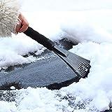 Huhu833 Eiskratzer Schneeschaufel Werkzeug für Auto Windschutzscheibe Schnee Frost Reinigungsbürste Entfernen Schneebürste Schaufel Windschild Eiskratzer (rot)