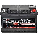 Autobatterie 12V 75Ah 720A BlackMax PKW Batterie ersetzt 65Ah 70Ah 72Ah 74Ah