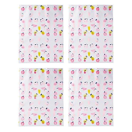 MSYOU - 4 Bolsas de almacenaje, diseño de Dibujos Animados, pequeñas, Estilo Fresco, Impermeable, para casa, Dormitorio, Viaje, Ropa, Bolsa de Almacenamiento