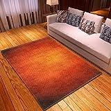 BSZHCT Alfombra de salón Naranja Vintage Franela Antideslizante Alfombra Apto para dormitorios y pasillos Cuarto de los niños 150x200 cm