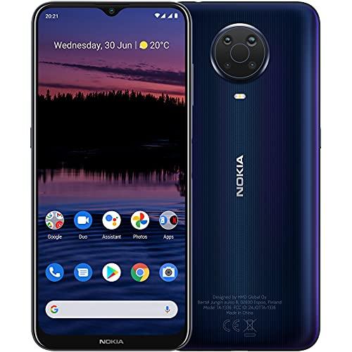 "Nokia G20 - Smartphone 4G Dual Sim, Display 6.5"" HD+, 128GB, 4GB RAM, Quadrupla Camera, Android 11, Batteria 5050mAh, Blue [Italia]"