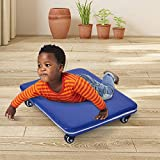 GAKINUNE Kids Sports Skateboard Board Balance Sensory Training Toy for Teens Adults PE Gym Class Daycare Preschool Development Game Camps Soft Case Floor Scooter Board with Rollers Ages 4-10 Blue
